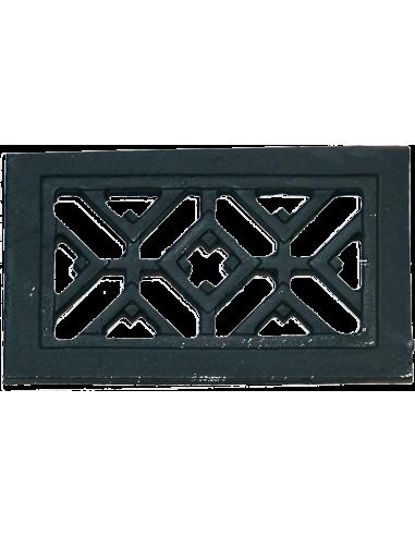 Rejilla fundicion medio ladrillo 11 x 6 cm iberica del for Chimenea hierro fundido