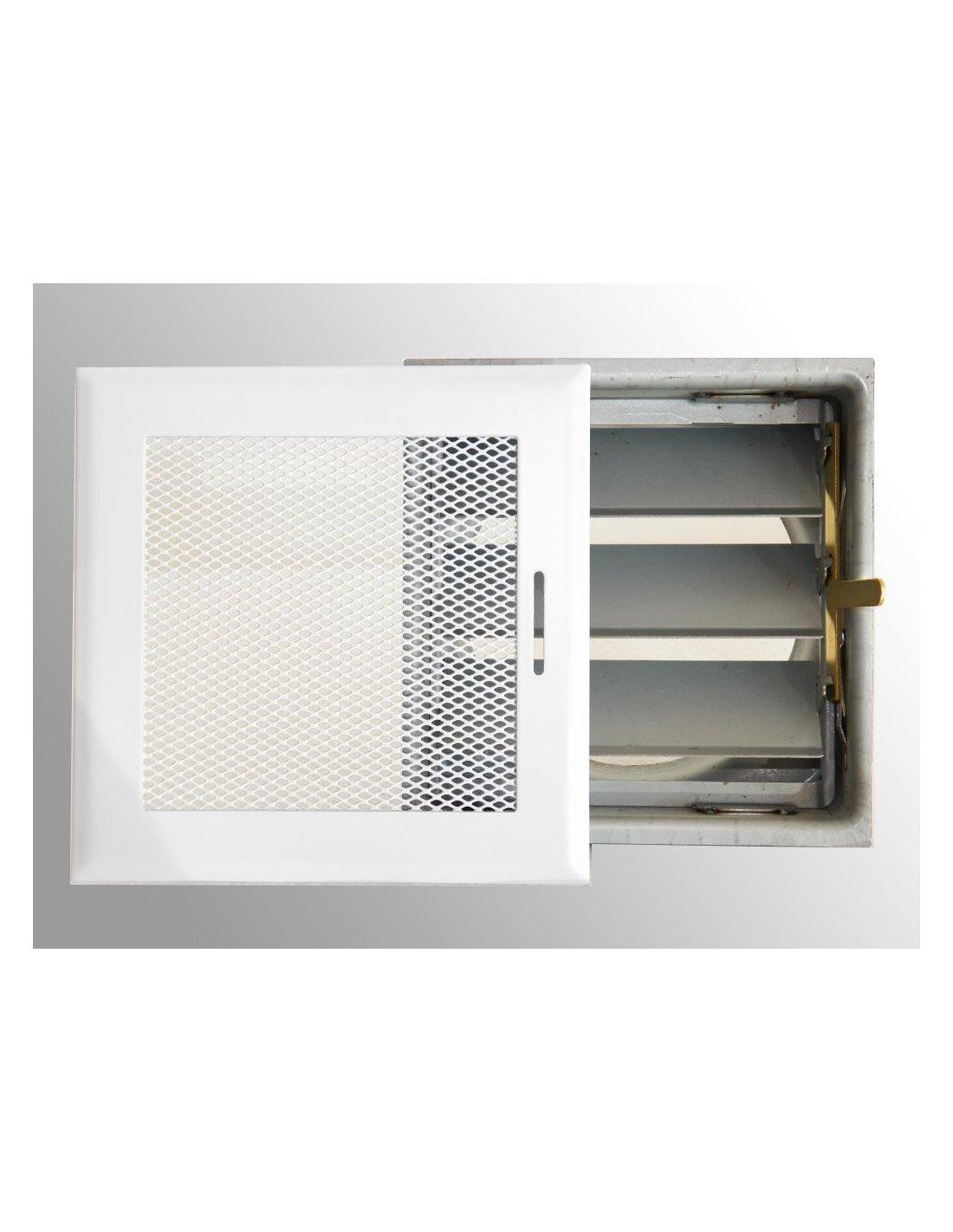 Rejilla 15 x 15 cm regulable salida 100 mm iberica - Rejillas para chimeneas ...