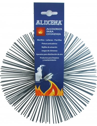 Erizos de acero redondos para deshollinar. VARIAS MEDIDAS A ELEGIR
